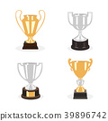 Gold and silver cup trophies set 39896742