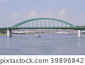 metal bridge on the river 39896842