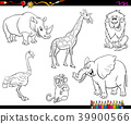 coloring, book, animals 39900566