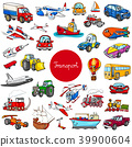 cartoon transportation vehicle characters big set 39900604