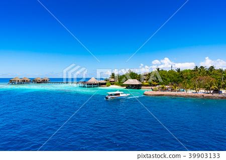 Maldives Resort Island Stock Photo 39903133 Pixta