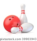 Skittles and bowling ball 3D 39903943