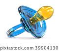 Blue baby dummy 3D 39904130
