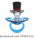 Blue baby pacifier with gentleman hat Baby BOY 39904132