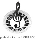 piano abstract clef 39904327