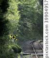 로컬 선 아침의 작은 건널목 39904957