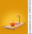 basketball ball smartphone 39907462