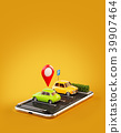 Unusual 3d illustration os smartphone application  39907464