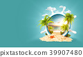 Tropical landscape in a helm 39907480