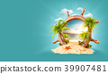 Tropical landscape in a helm 39907481