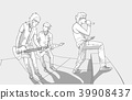 Illustration of rock band performing on stage 39908437