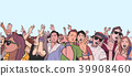 벡터, 축제, 사람들 39908460