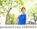 여름 여성 더운 땀 39909054