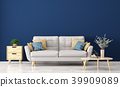 Modern interior of living room with sofa 3d render 39909089