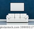 mock up poster frame in interior room , 3D render 39909317