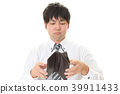 지갑을 가진 고뇌하는 사업 39911433