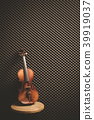 classical violin on acoustic board background 39919037