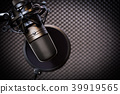 condenser microphone in recording studio 39919565