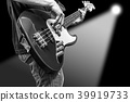 bass player on stage 39919733