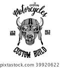 Buffalo drawing biker 39920622