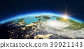 Europe from space. 3d rendering 39921143