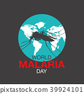 world malaria day, vector illustration,flat design 39924101