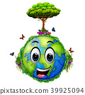 Earth and many green trees 39925094