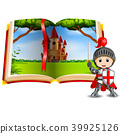 castle scenery in the book and a knight 39925126