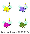dragonfly with different facial expressions 39925164