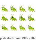 Grasshopper with different facial expressions 39925187