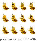 set collection Caterpillar with facial expression 39925207