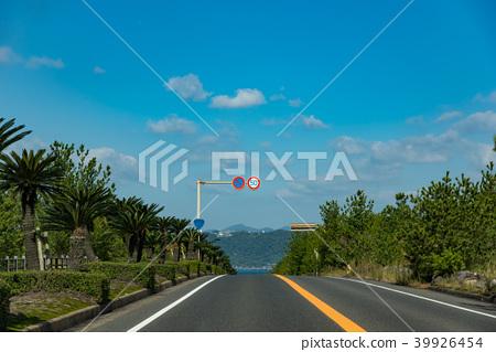 Road in Kagoshima Sakurajima Kagoshima city area of Sabae Bay 39926454