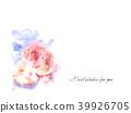 水彩玫瑰 39926705