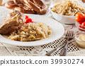 pork knuckle sauerkraut 39930274