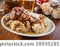 pork knuckle sauerkraut 39930285