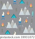 camp, campfire, element 39931072