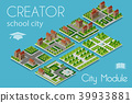 isometric, vector, city 39933881