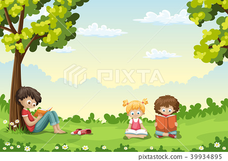 Kids Reading Books 39934895