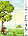 Boy Reading a Book 39934897