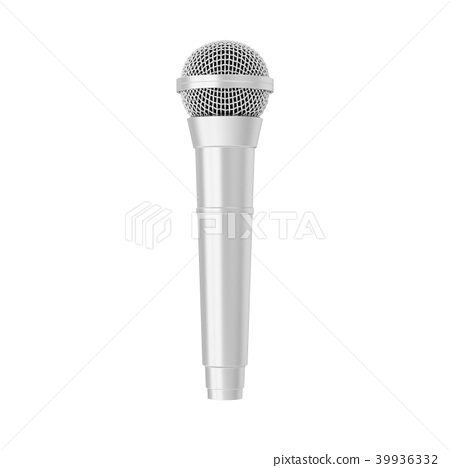 3d rendering microphone isolated 39936332