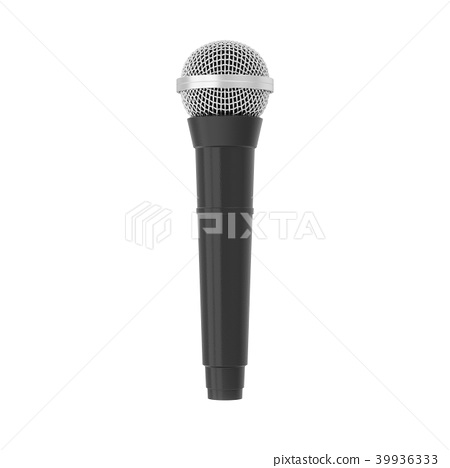 3d rendering microphone isolated 39936333