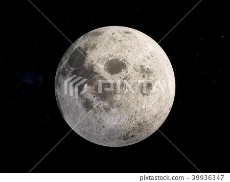 3D Rendering Moon in space 39936347