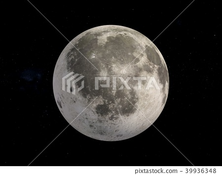 3D Rendering Moon in space 39936348