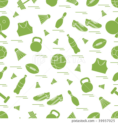 Seamless pattern on the sports theme sports and 39937025