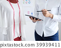 Stylish fashion designer working with measure red dummy as sketc 39939411