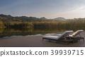Lake house terrace  3d render 39939715