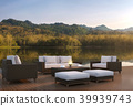 Outdoor living area and beautiful nature 3d render 39939743