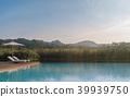 Swimming pool terrace  3d render 39939750