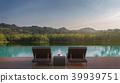 Swimming pool terrace 3d render 39939751