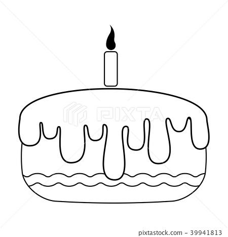 Amazing Birthday Cake Icon Stock Illustration 39941813 Pixta Funny Birthday Cards Online Kookostrdamsfinfo
